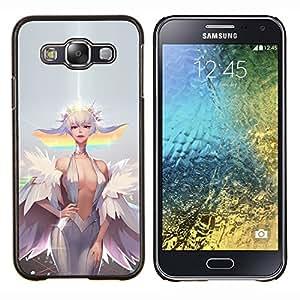 Sexy Cartoon Pixie- Metal de aluminio y de plástico duro Caja del teléfono - Negro - Samsung Galaxy E5 / SM-E500