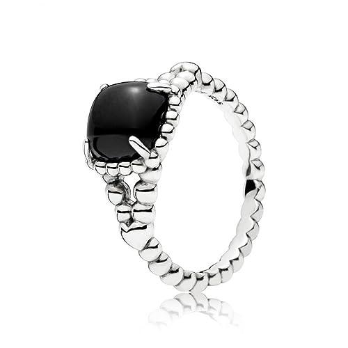 pandora anello perla nera