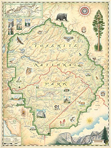 Yosemite National Park Map - Map Art ()