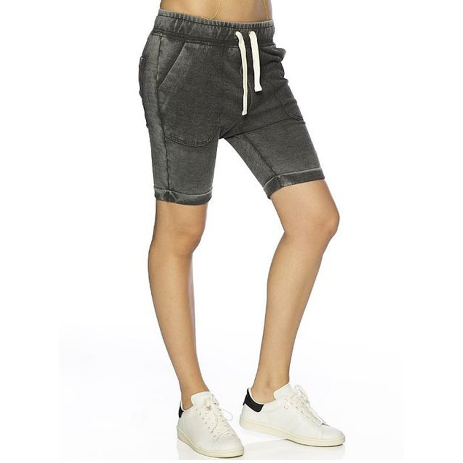 Peace Love World Womens Halle Short Black Extra Small