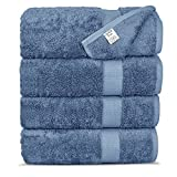 #7: Chakir Turkish Linens Luxury Ultra Soft Bamboo 4-Piece Set Absorbent and Eco-Friendly, Bath Towels, Wedgewood