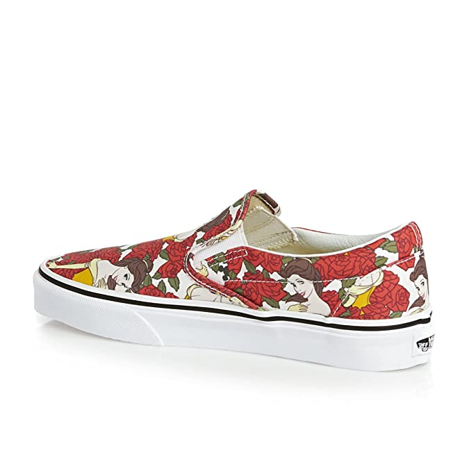 68770878abf619 Vans Disney Womens True White   Red Princess Belle Trainers  Amazon.co.uk   Shoes   Bags