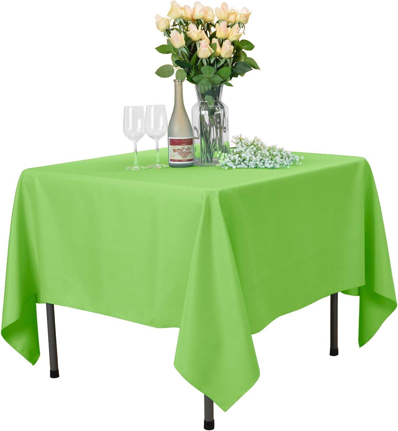 Nappe D/îner pour Le Mariage F/ête Restaurant Caf/é VEEYOO Nappe Carr/ée Nappe de Table 100/% Polyester pour Table Int/érieure et Ext/érieure Bleu Royal, 135x135 cm