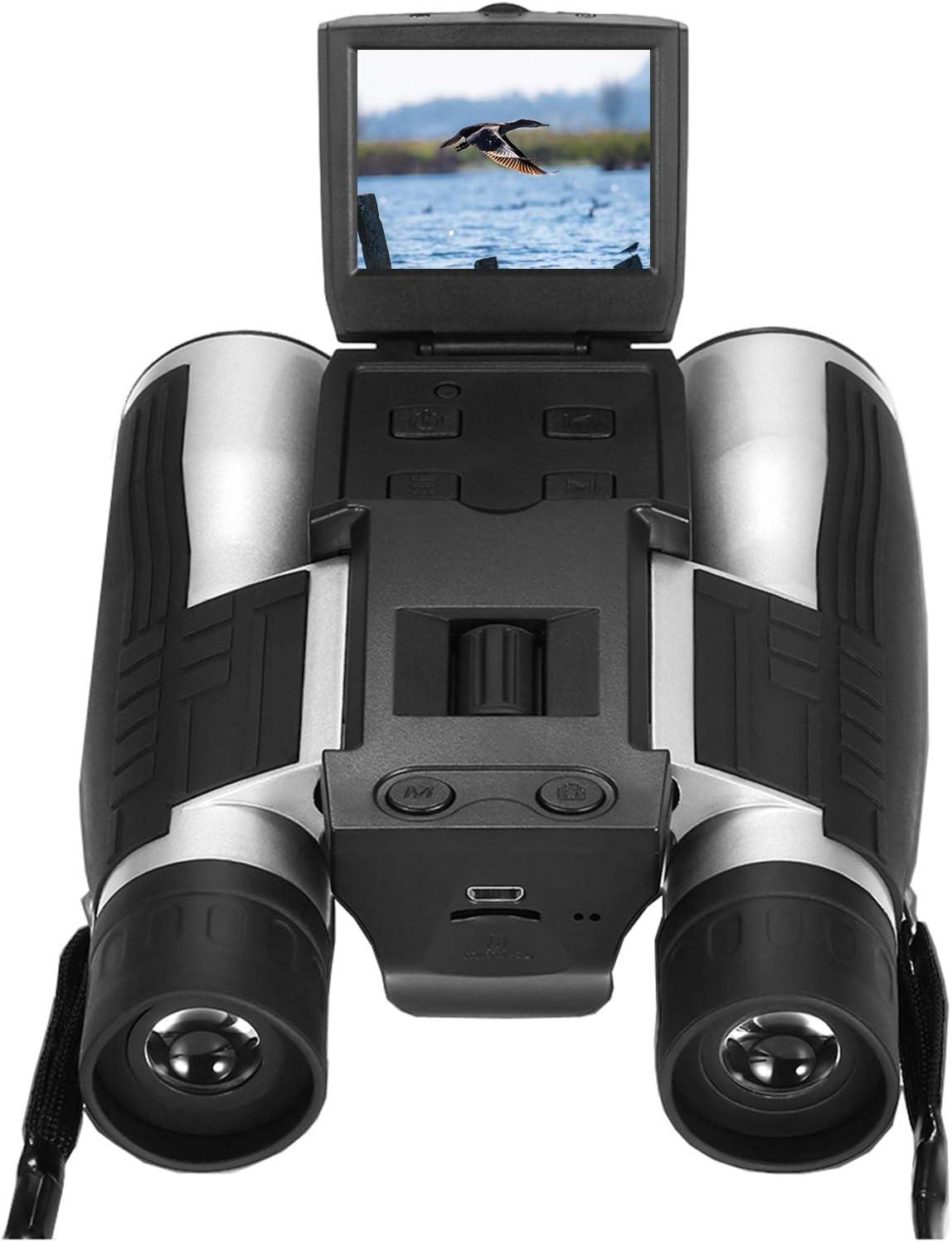 "Digital Camera Binoculars, Eoncore 2"" LCD Display Binoculars for Adults 12x32 5MP Video Photo Recorder for Bird Watching Hunting Sports Games 16GB TF Card : Camera & Photo"