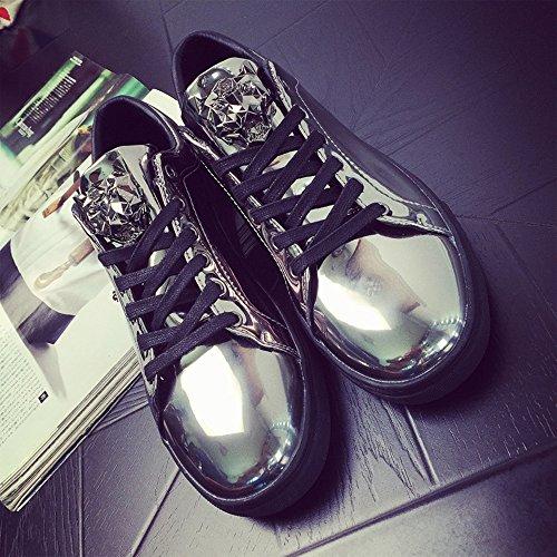 Sports Lacer Bleu Noir de Sneakers Argent Léopard shop Homme 39 Baskets Patent Flats Doré Chaussures Argent Raven 44 Basses AFf8qXxZw