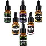 COOSA Top 6 Essential Oils for Diffuser Gift Set-Lavender, Tea Tree, Peppermint, Lemongrass, Orange, Rosemary-10ml