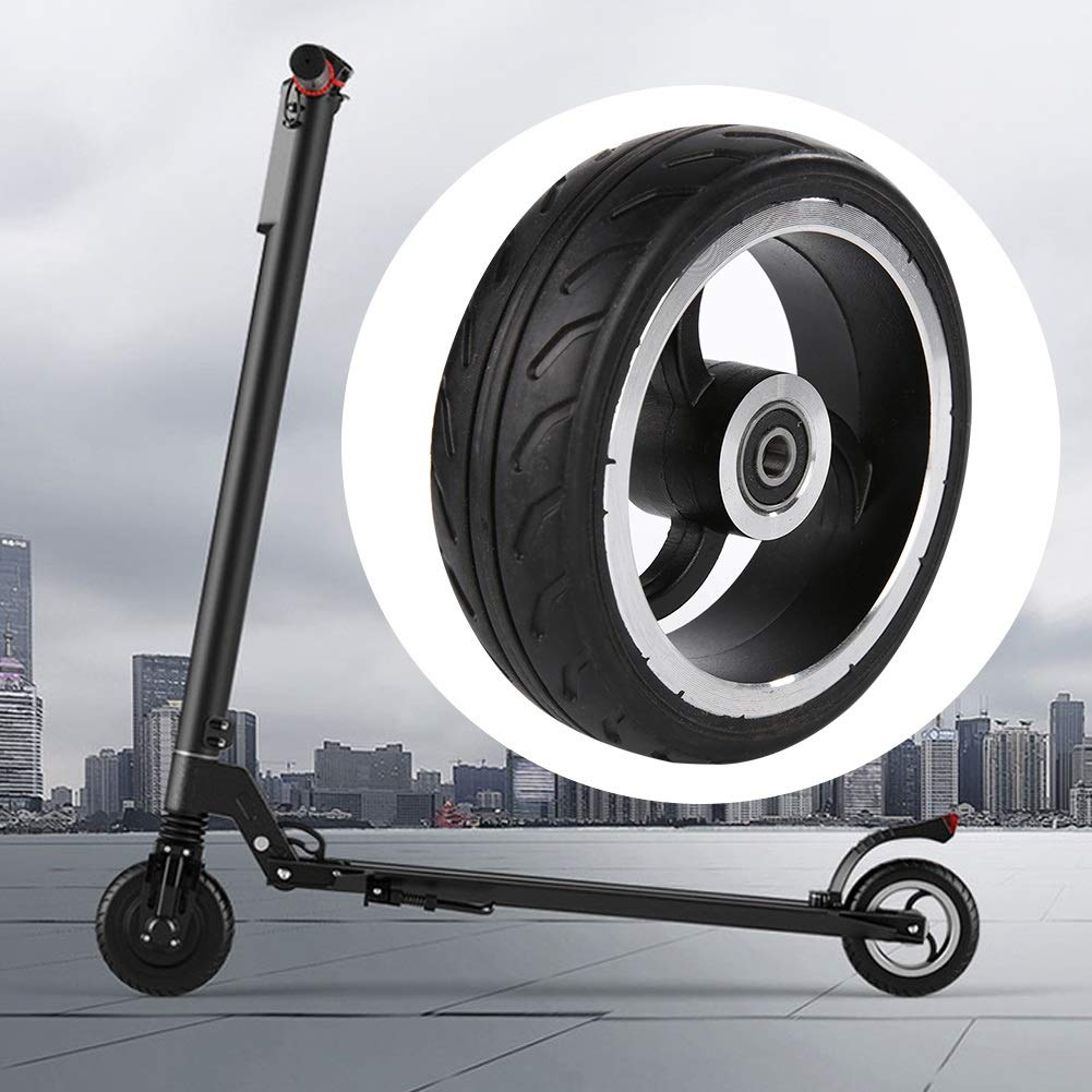 MAGT Remplacement De Pneu De Scooter /Électrique Accessoires pour Scooter De Roue Arri/ère Solide Durable 5.5 Pouces pour Mini-Pliage De Roue De Scooter /Électrique