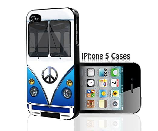 Amazon.com: Retro Hippie Mini Van Bus Peace Love Blue Iphone ...
