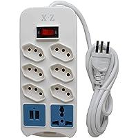 Filtro De Linha Com Interruptor, 8 Tomadas, 2 Usb, 1 Tomada Universal XZ MF8208