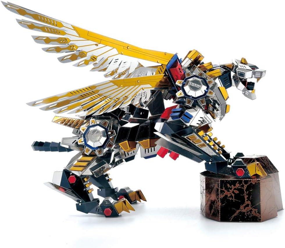 Microworld 3D Laser Cut Metal Puzzle Jigsaw DIY Model Building Kit - D006 Mechanical Flying Tiger