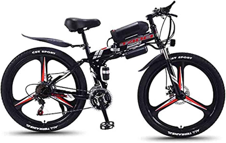 Hyuhome Bicicletas de montaña eléctrica para Adultos, Plegable de MTB Ebikes Hombres Mujeres señoras, 360W 36V 8/10 / 13Ah Todo Terreno 26