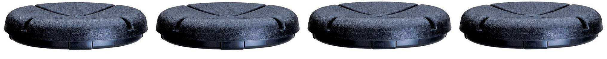 Custom Leathercraft CLC 1140 EasySeat Lightweight Plastic Bucket Seat for 3 1/2-5 Gallon Buckets (Fоur Paсk)