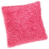 Brentwood Fifi 18-Inch-by-18-Inch Knife Edge Pillow, Hot Pink