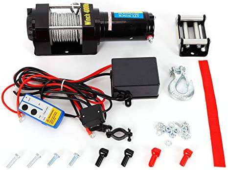 ReaseJoy 12V Electric Recovery Winch Kit for ATV UTV Trailer Truck Car 3000lbs 1361kgs Capacity Wireless Remote Control