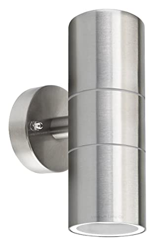 long life lamp company stainless steel double up down wall spot