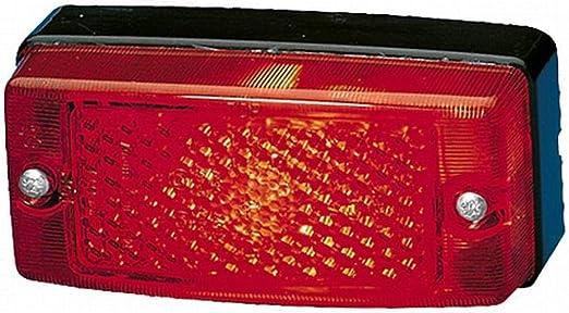 Hella 2tm 004 361 021 Schlussleuchte R5w 12v 24v Lichtscheibenfarbe Rot Anbau Pg Verschraubung Einbauort Links Rechts Auto