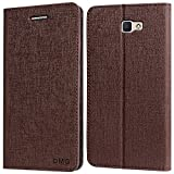 DMG PU Leather Wallet Case Book Cover with Stand and Card Slots for Samsung Galaxy A9 Pro (Coffee Brown)