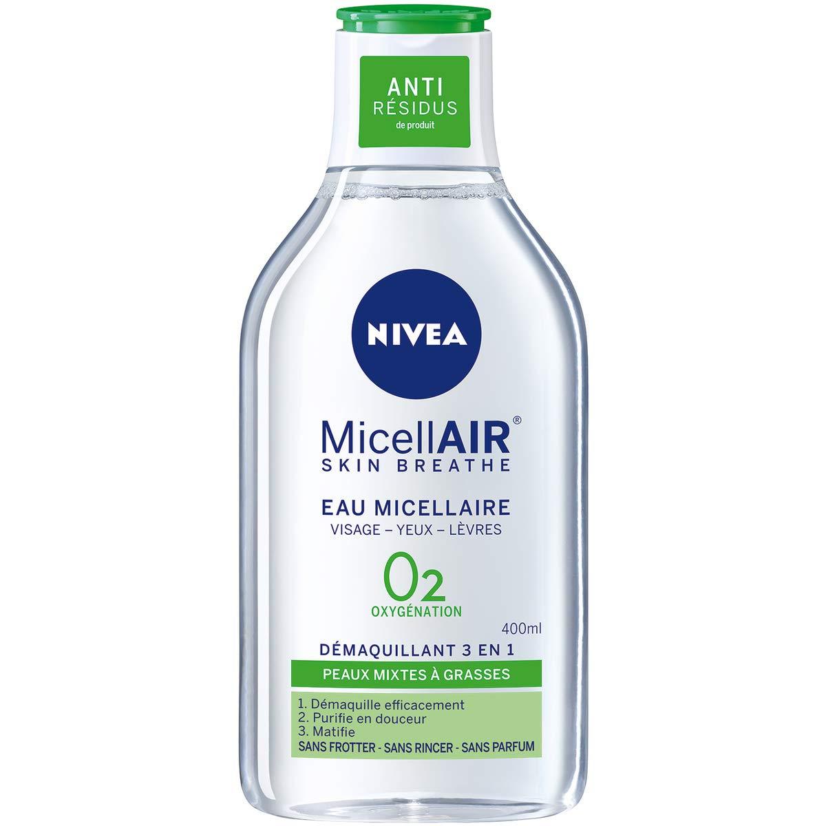 Nivea Demaquillant Micellaire - pieles combinadas con grasses 400 ml - juego de 2: Amazon.es: Belleza