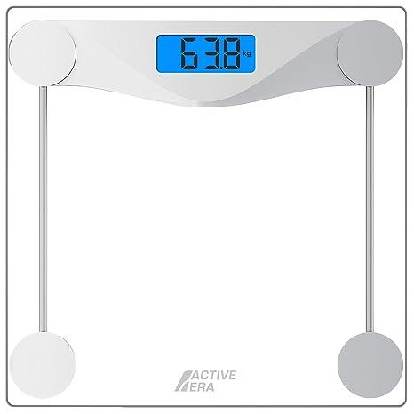 Active Era™ Báscula de Baño Digital Ultrafina con Sensores de Alta Precisión y Vidrio Templado