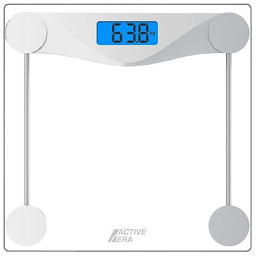 Active EraTM Báscula de Baño Digital Ultrafina con Sensores de Alta Precisión y Vidrio Templado (stones/kgs/libras): Amazon.es: Salud y cuidado personal