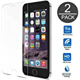 Gembonics iPhone 8/7/6 Plus Screen Protector [2 Pack] by Tempered Glass Touch-screen Accurate Round Edge 0.3mm Ultra-clear Perfect Fit Maximum Screen Protection from Bumps Drops Scrapes and Marks