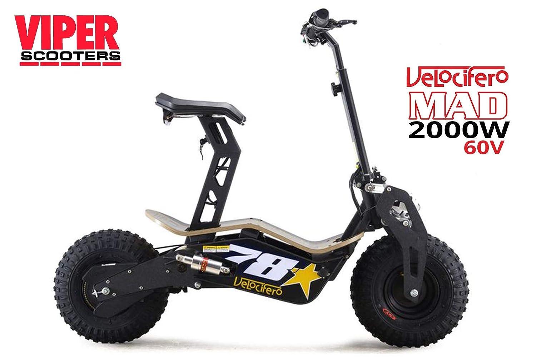 Scooter eléctrico Velocifero Mad 2000 W, 60 V con batería de ...
