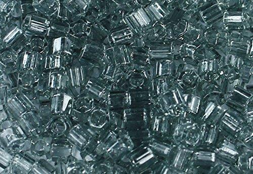 8/0 Hex TOHO Japanese Glass Seed Beads # 9-Transparent Black Diamond 15g