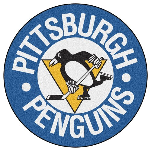 FANMATS NHL Pittsburgh Penguins Nylon Face Hockey Puck Rug (Pittsburgh Penguins Mat Puck)