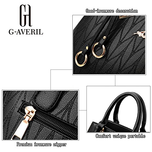 (G-AVERIL)Borsa a Mano da Donna in PU Pelle Designer Top-Handle Borsa Per Le Donne