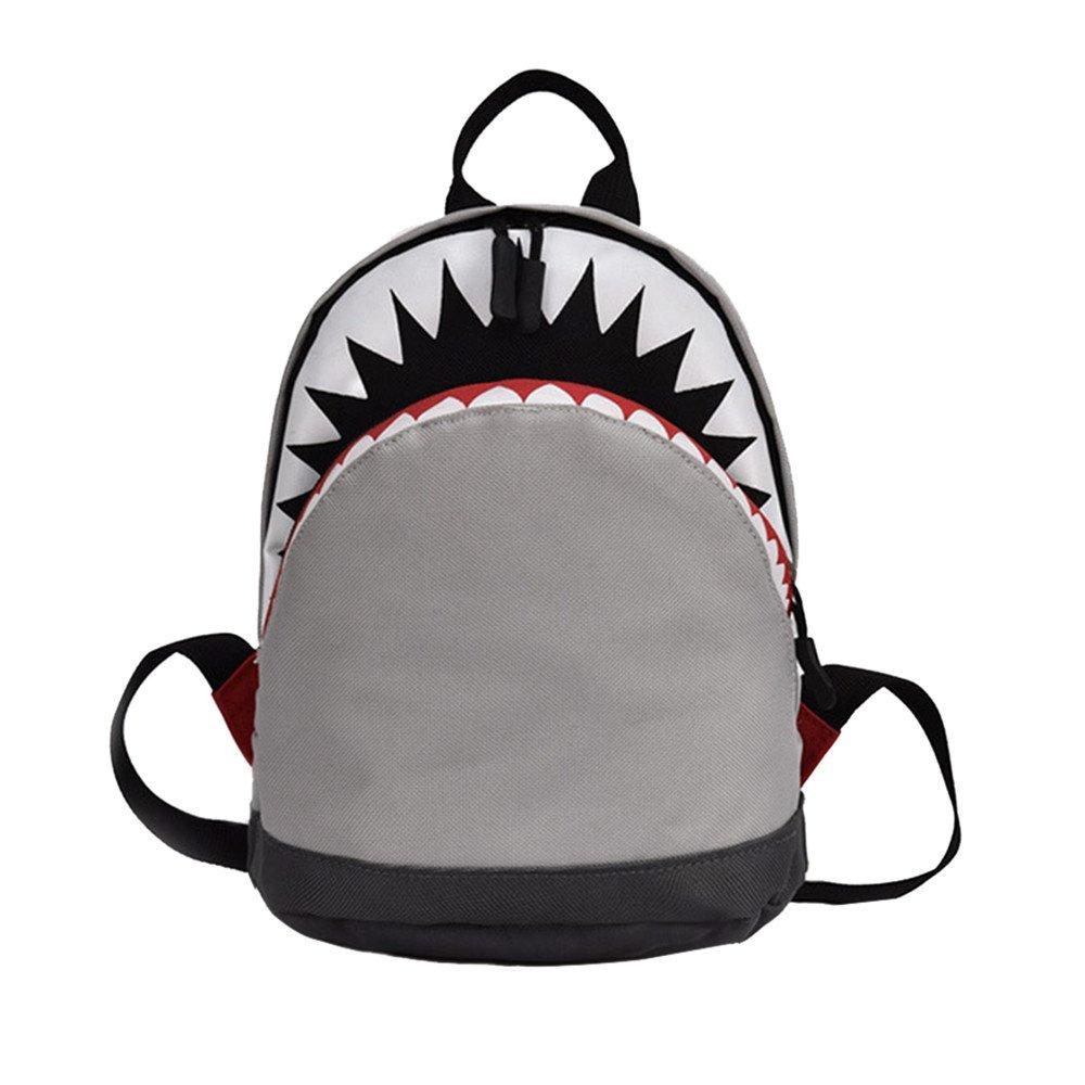 Yalasga キッズ 子供 赤ちゃん 女の子 男の子 漫画 サメの動物 バックパック 幼児 スクールバッグ B07GSYP1MP グレー Large