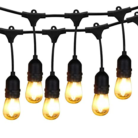BRIMAX   48ft Outdoor Patio Led Edison String Lights For Café Outside  Lights Décor, 15