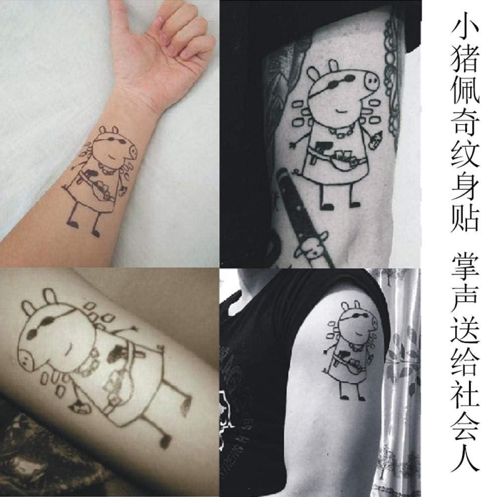 Tatuaje Tatuaje Pegatinas Tatuaje Hombres Y Mujeres Rosa Cerdo ...