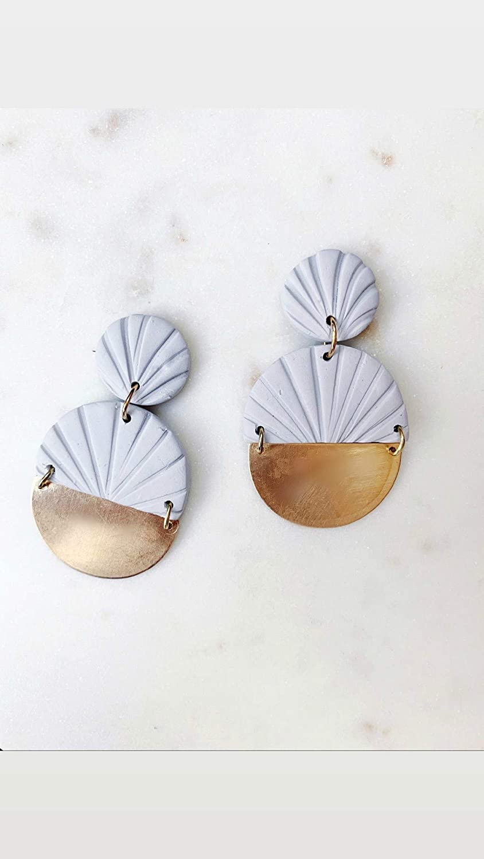 modern design Polymer clay earrings