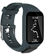 Womdee Bracelet de Montre Tomtom, Bracelet de Sport avec Bracelet de Remplacement en Silicone et Silicone Souple pour GPS Tomtom Runner 2 / Runner 3 / Spark 3 / Adventurer/Golfer 2