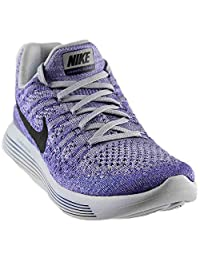Nike Men's Lunarepic Low Flyknit 2, Cool Grey/White-Volt-Blue Glow
