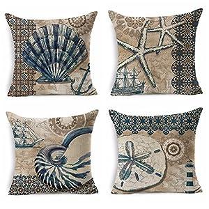 61bP07AapdL._SS300_ 100+ Nautical Pillows & Nautical Pillow Covers