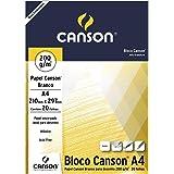 Bloco Canson Desenho Branco A4 200g/m² com 20 folhas