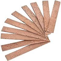 VGBEY 10 Piezas de Corcho para Clarinete, Tiras de Corcho para Junta de Cuello Kit de reemplazo de Corcho para Clarinete…