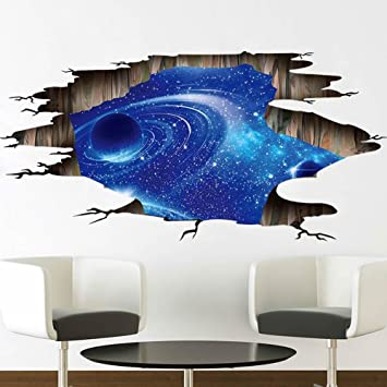 Genial Galaxy Planet Space Murals Wall Decal   Creative 3D Cosmic Milky Way Floor/  Ceiling /
