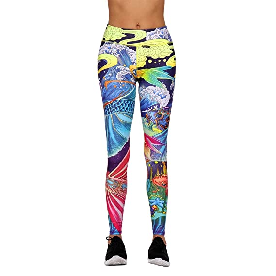 Amazon.com: Zcxaa Fashion Women Leggings Floral Workout ...