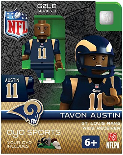 NFL St. Louis Rams Tavon Austin Gen 2 Mini Figure, Small by OYO