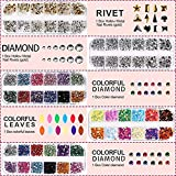 5 box 11440pcs Nails Rhinestones and 36 Pots