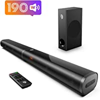 Soundbar, Bomaker 32 Inch 190W TV Sound bar with 5.25 Inch Subwoofer, 125dB, Customized…