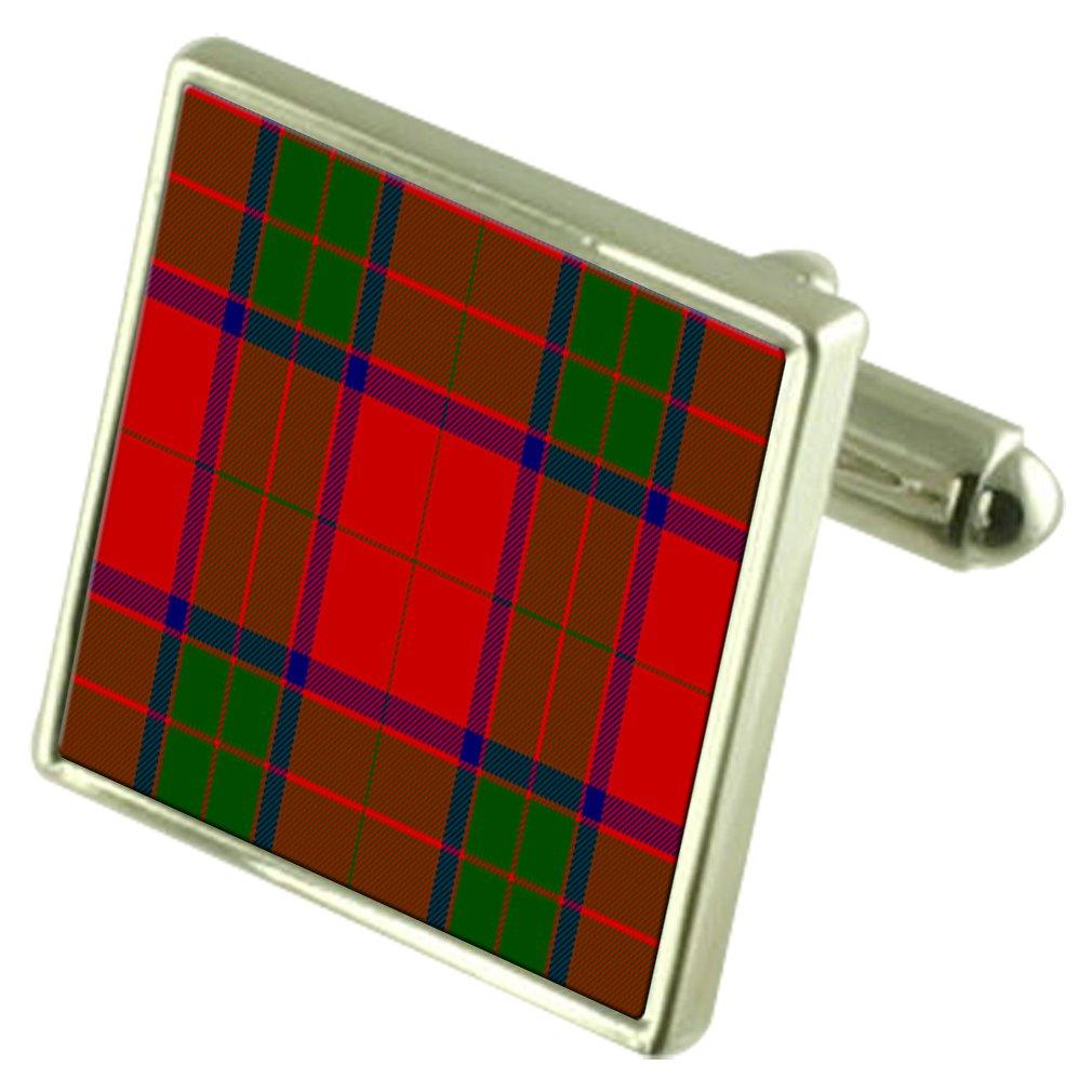 Select Gifts Tartan Clan Robertson Sterling Silver Cufflinks