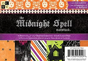 Die Cuts With A View Midnight Spell Halloween Premium Mat Stack with Glitter/Foil