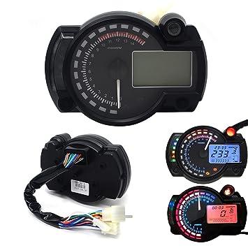 Universal LCD Digital Motorcycle Marine Speedometer Odometer