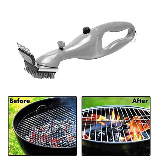 Acero inoxidable Barbacoa cepillo de limpieza por aiqi, barbacoa parrilla de limpiador de parrilla con potencia de vapor para una limpieza impecable y ...