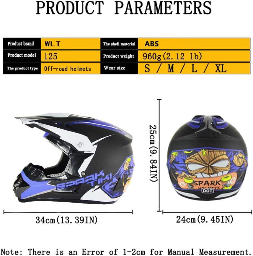 Handschuhe, Brille, Maske, 4-teiliger Satz Motocross Racing Bike Helm Vier Jahreszeiten universal Jugend Kinder Dirt Bike Helme Motorradhelm