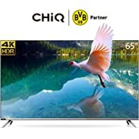 CHiQ U65H7 4K LED Smart TV, UHD, 65 Inch, Android 9.0, HDR10, A+ Screen, WiFi, Bluetooth 5.0, Netflix, YouTube, Prime Video, Full screen display, HDMI, USB