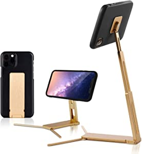 Lookstand Gold Adjustable Cell Phone Stand Compatible with iPhone & Android - Cell Phone Holder for Bed | iPhone Holder for Desk | iPhone Stand for Video | Desk Phone Stand for Recording